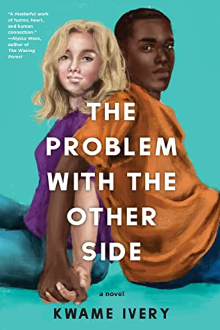 Book cover has a young White woman back to back with a Black young man. They have their heads turned toward the reader and they are holding hands