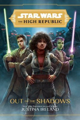 Cover image featuring a woman in the center with hands on hips. Two other people are on either side holding up light sabers.