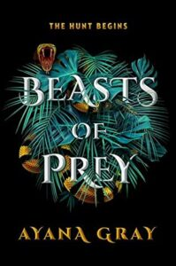 Book cover featuring a yellow and black striped snaked coiled through leaves and pine needles