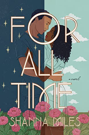 A young couple are centered on this book cover. They have their arms around each other's waist and are staring into each other's eyes.