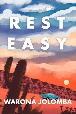 The book cover shows a street lined with houses. There is a pickup truck in front of one and there is also a saguaro up close.