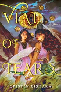 Book cover features two young women and there is an owl flying toward them.