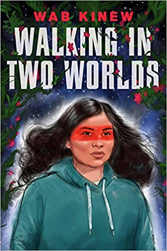 Book cover image. Young woman in a hoodie with what seems to be a red painted stripe across her eyes.