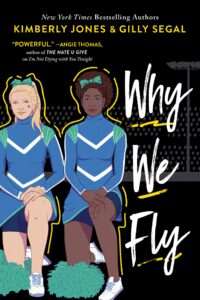 The book cover features two cheerleaders kneeling on one knee. One appears to be white and the other is Black.