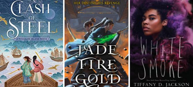 clash of steel jade fire gold white smoke