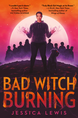 Young person in a hoodie stands in center of book cover with raised hands that have streams of vapor or something like it coming off of their fingers. There is a large full moon in the background. There are shadow outlines of many people behind the central figure. There is also a dark animal with red eyes near the feet of that person.